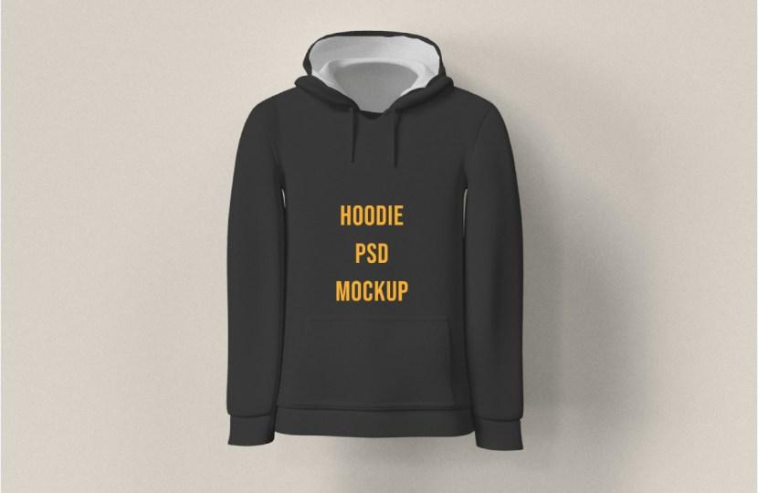 Free Man Hoodie PSD Mockup