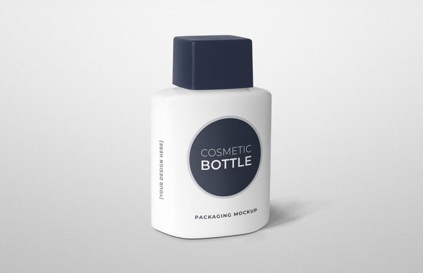 Free Cosmetic Bottle Packaging Mockup