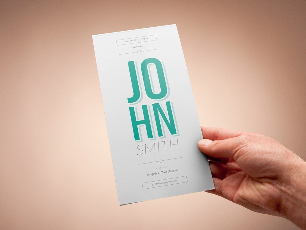 free professional vertical resume template