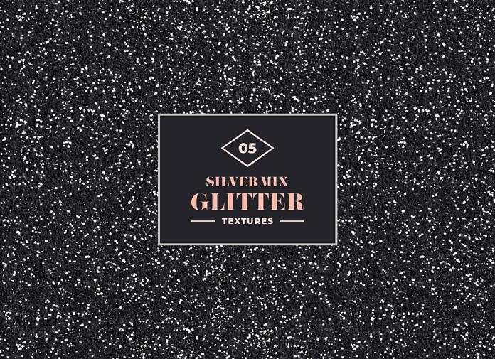 5 Free Silver Mix Glitter Texture