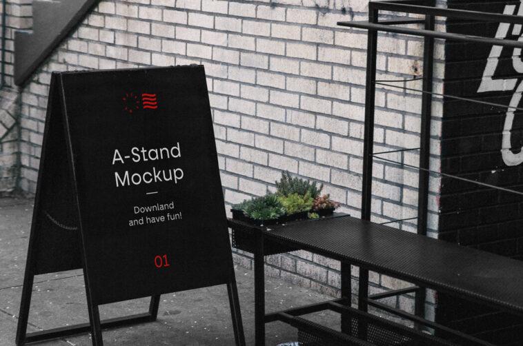 Free A-Stand Mockup PSD