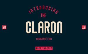 Claron – Free Condensed Font
