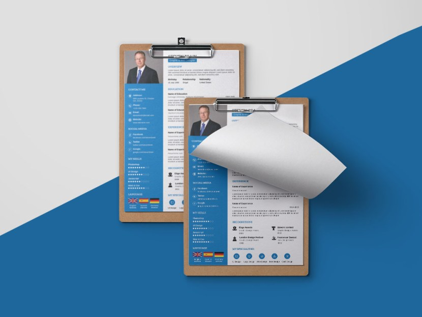 Free A4 Paper Size CV Resume Template