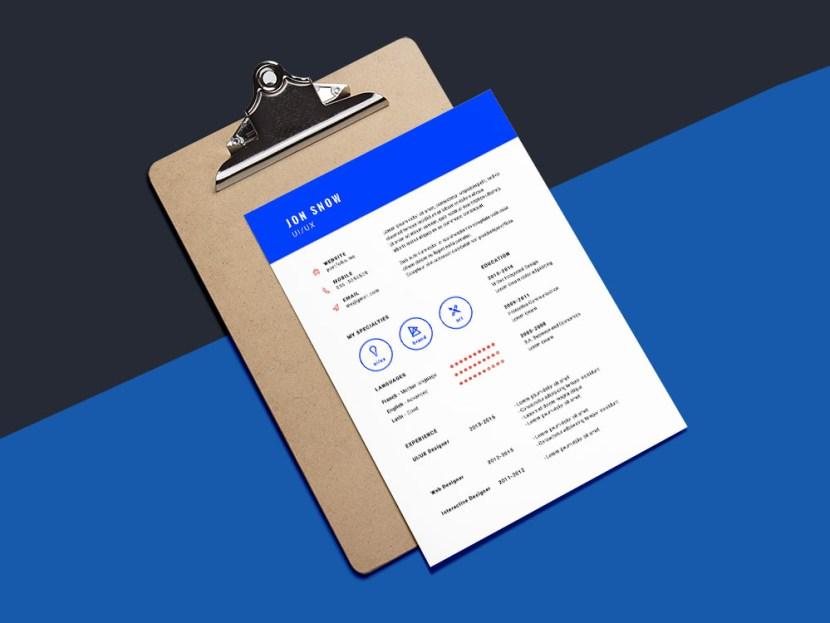 Free Blue CV Resume Template