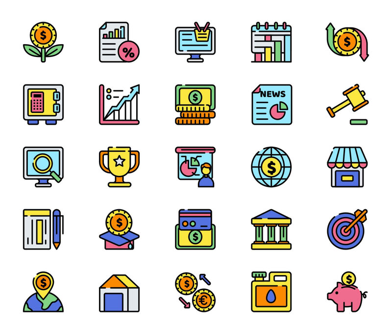 Free Economics Vector Icon Set
