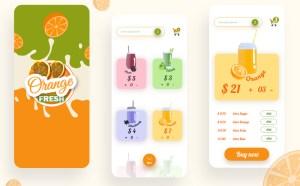 Free Juice App UI Template (Adobe XD)