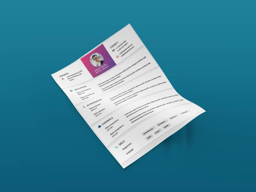 Free Marketing Resume Template with Cover Letter