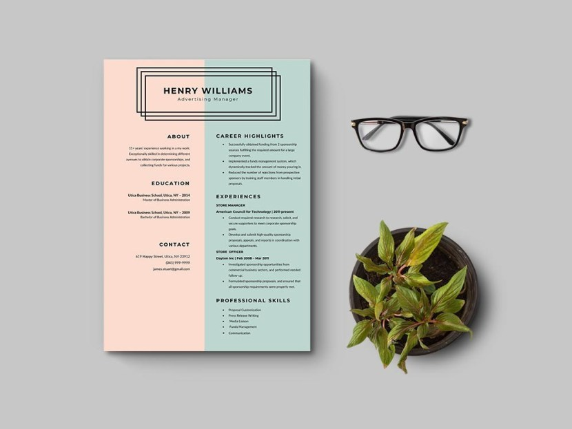 Free Advertising Manager CV Template