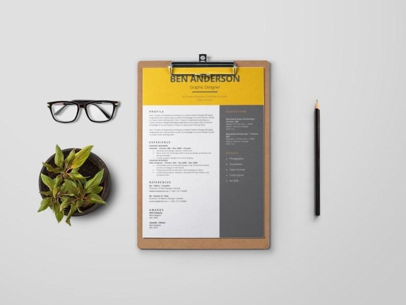 Free Minimal MS Word Resume Template