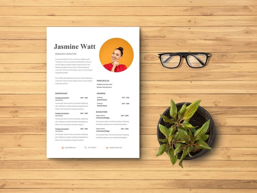Free Research Assistant Resume Template
