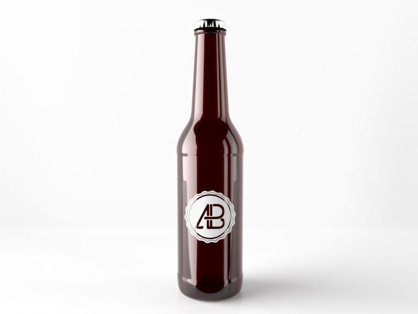 Free Classic Beer Bottle Mockup
