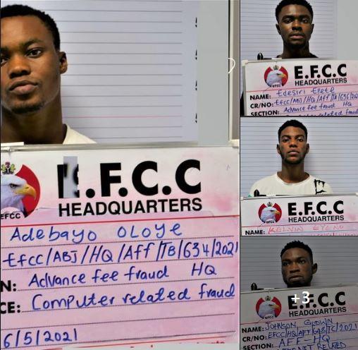Yahoo boys caught in Abuja