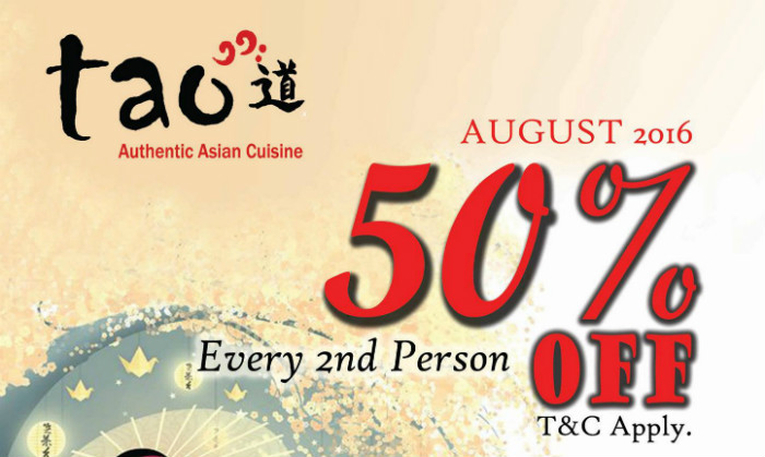 Buffet Promotion - Tao 50% OFF