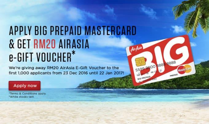 Apply BIG prepaid Mastercard