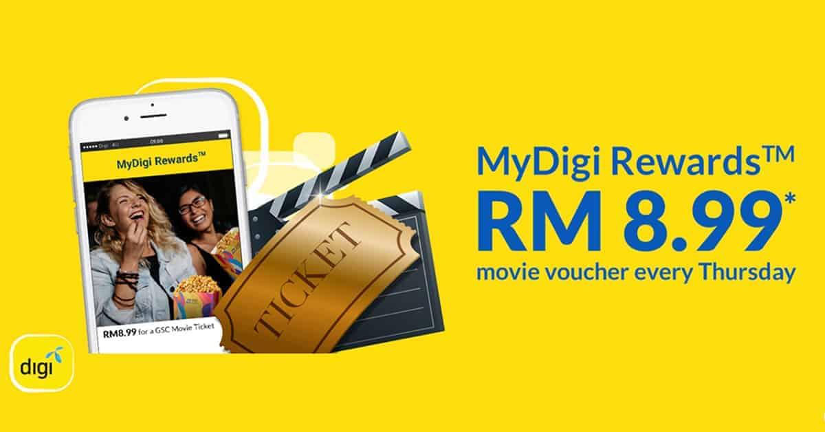 GSC MyDigi Rewards RM 8.99 movie voucher