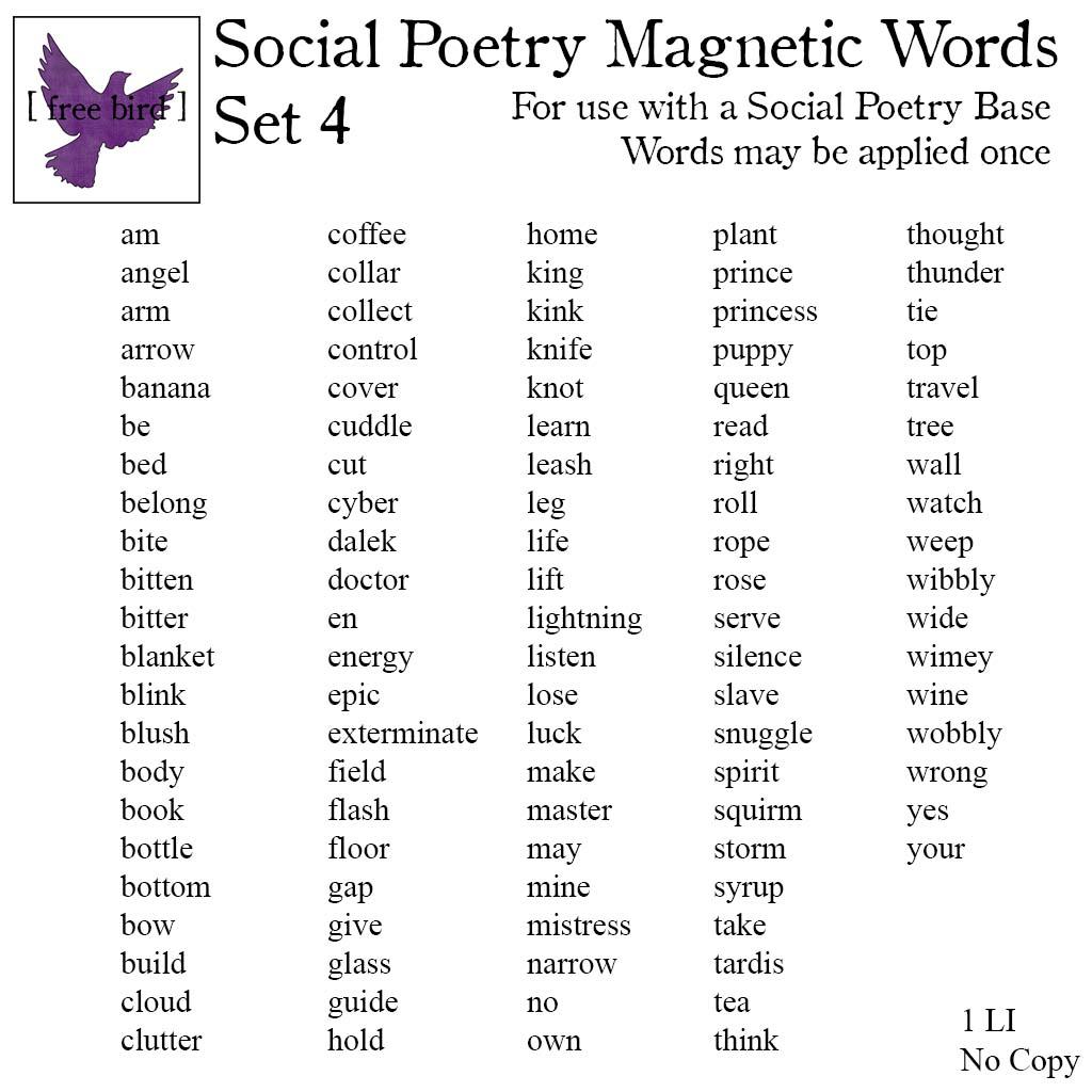 Free Bird Social Poetry Contest