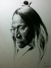 Indian Spirit - Willow Charcoal (only) on Paper -