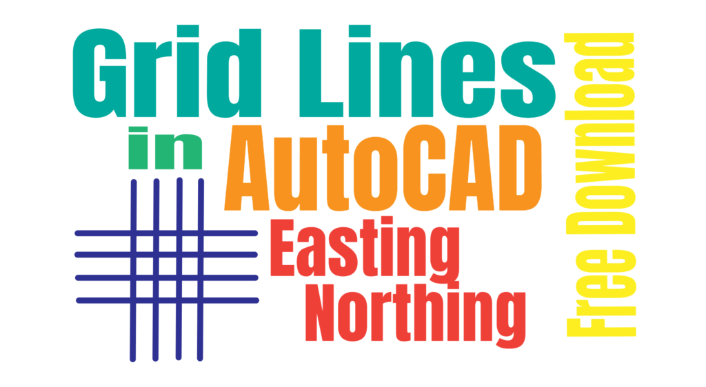 How to Draw Grid Lines in AutoCAD With Text - Coordinates Grid