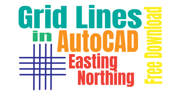 How to Draw Grid Lines in AutoCAD With Text - Coordinates