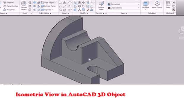 Isometric View in AutoCAD 3D Object - Tips and trick at