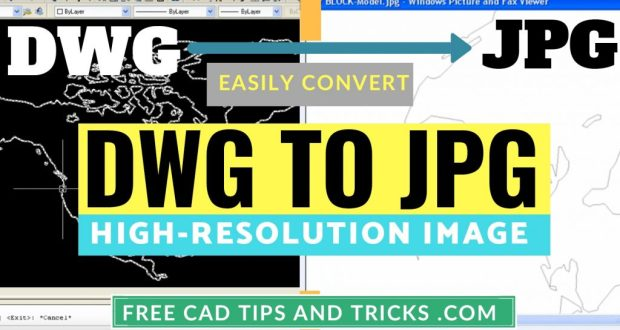 How to convert AutoCAD DWG to JPG high resolution - Free CAD