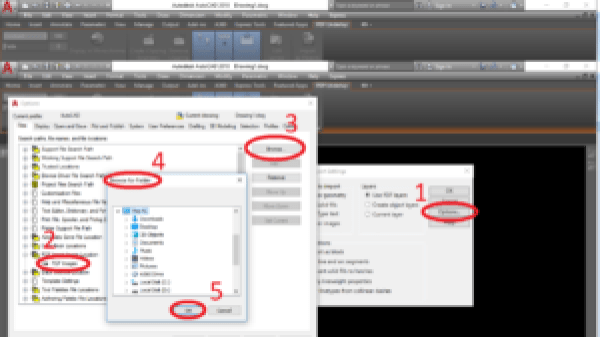 PDFIMPORT PDF Images Location Settings how to convert pdf to dwg in autocad 2017,
