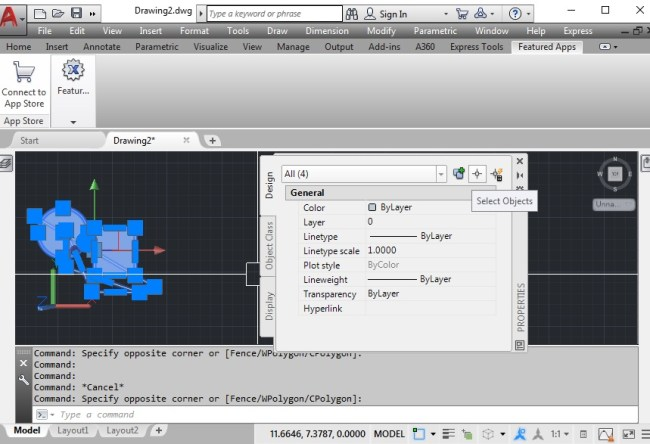 Set-PICKADD-to-1-–-Select-Multiple-Speed-Up-AutoCAD-Performance