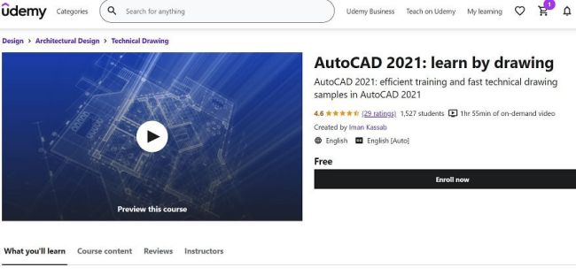 12- Learn AutoCAD 2021 Free online