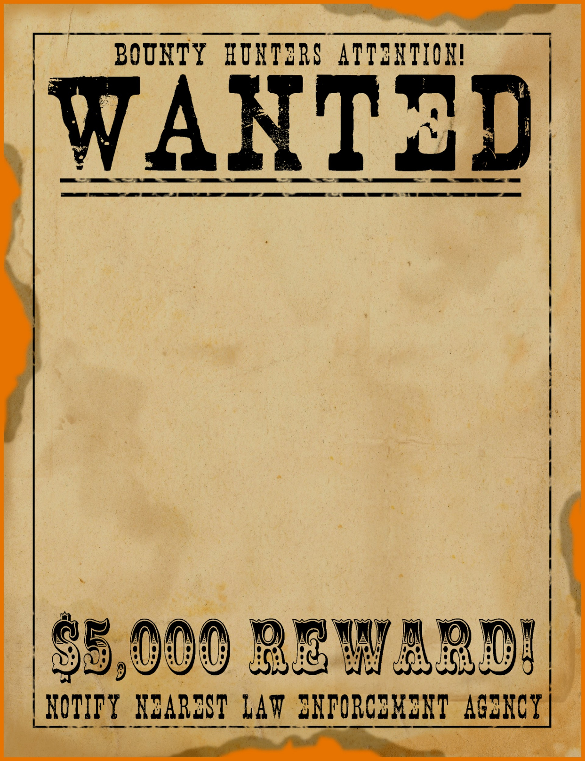 make your own wanted sign calendar