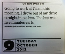 man drives car into bus