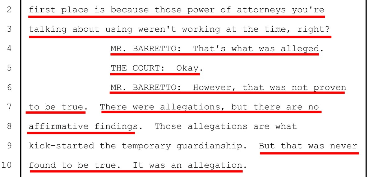 "Jan 29, 2019: Laura Martinez' attorney ""Buddy"" Barretto tells Judge Oscar Kazen there were no proven allegations against Laura Martinez"