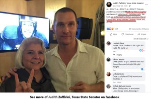 Nov 22, 2020 FaceBook post from Texas State Senator Judith Zaffirini, showing her direct relationship to the Kazen family, as well as the Kazen family's connection to Texas' most sacred event: football and famed UT Coach Darrell Royal.