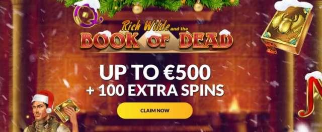 Book of Dead €500 Bonus