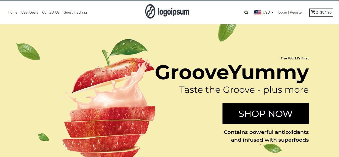 Groovekart online store