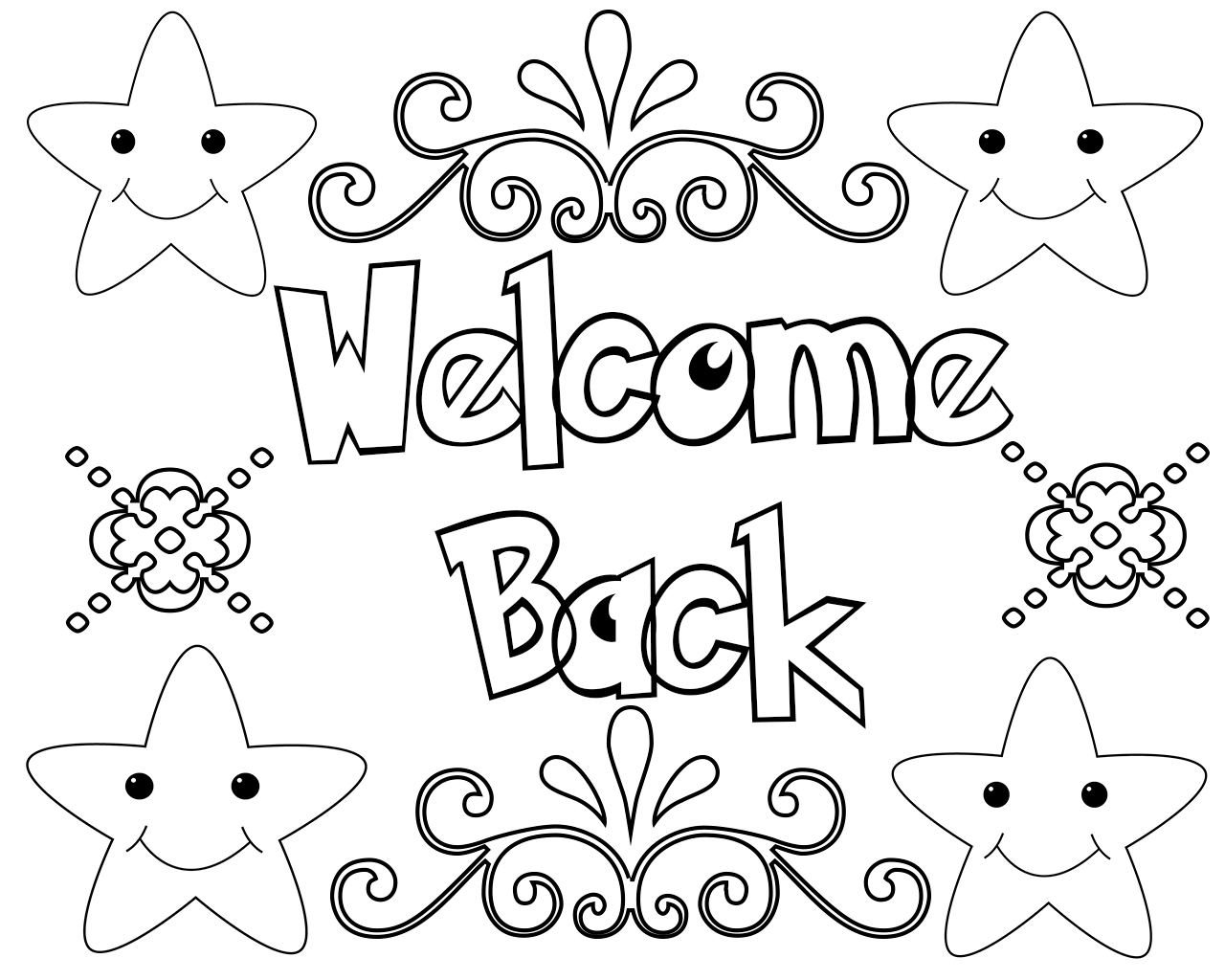 Pages Welcome Back Home Coloring Pages