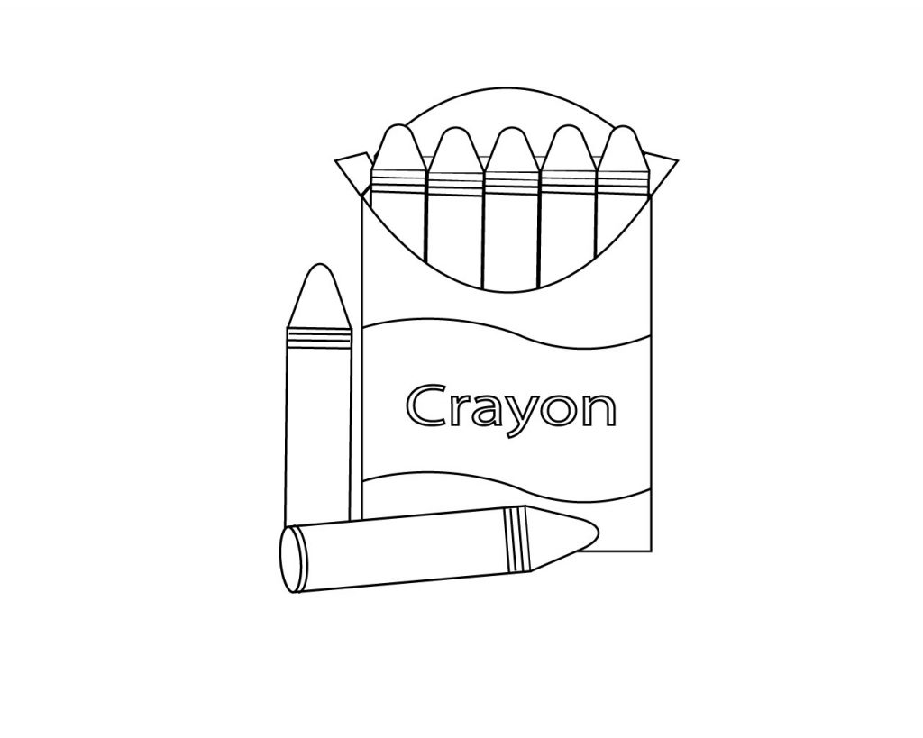 Crayon Box Coloring Pages