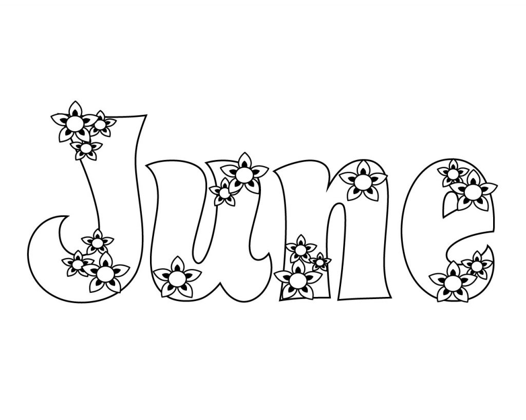 Unique June Coloring Pages You Will Definitely Love June