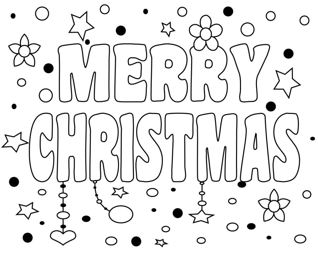 The Best Ideas For Merry Christmas Coloring Pages For