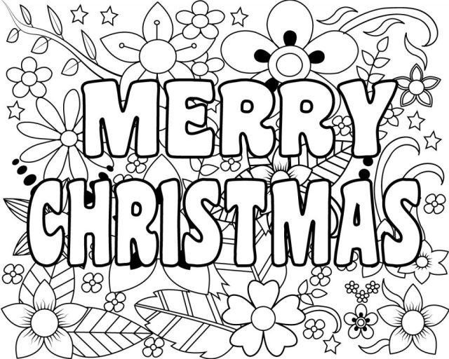Printable Merry Christmas Coloring Pages For Kids, Adults and Mom 22