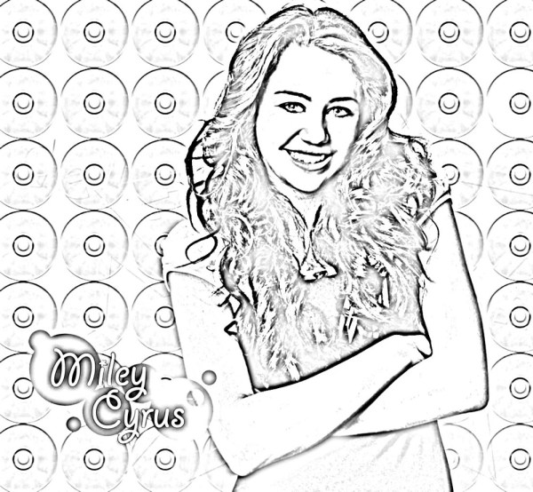 hannah montana coloring pages # 12