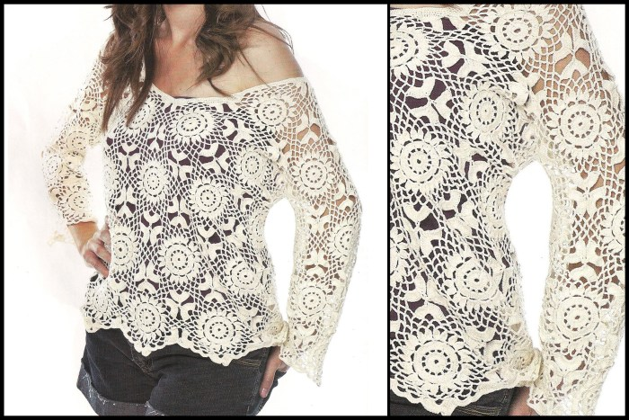 For This Beautiful Crochet Blouse Pattern Free See The Step By