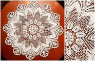 Tablecloth: see the free chart and leave your kitchen table well decorated