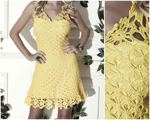 Here's how to make a beautiful spring crochet dress pattern free