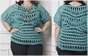 Plus Size Crochet Pattern blouse with free pattern and easy to make – Yarn of Crochet