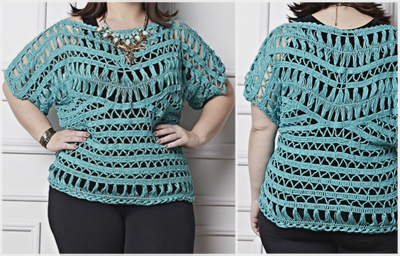 Plus Size Crochet Pattern Blouse With Free Pattern And Easy To Make