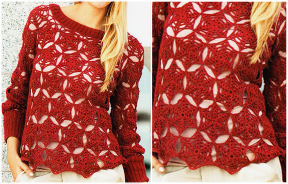 Crochet motif for tunic blouse tutorial vídeo step by step – Yarn of Crochet