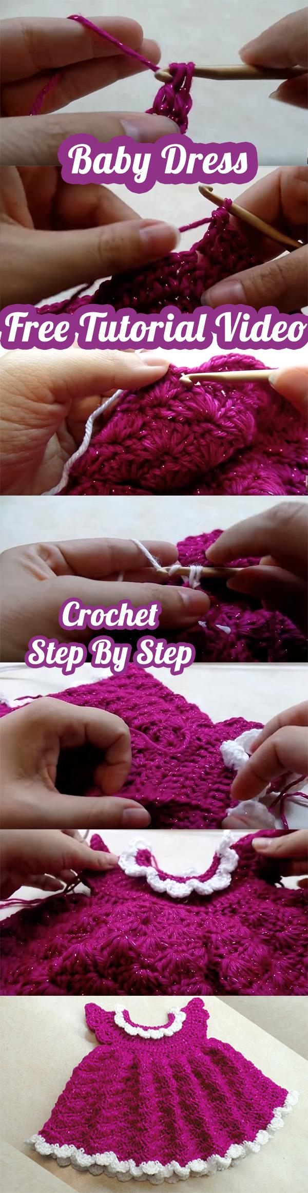 Free Crochet Baby Dress Video Tutorial