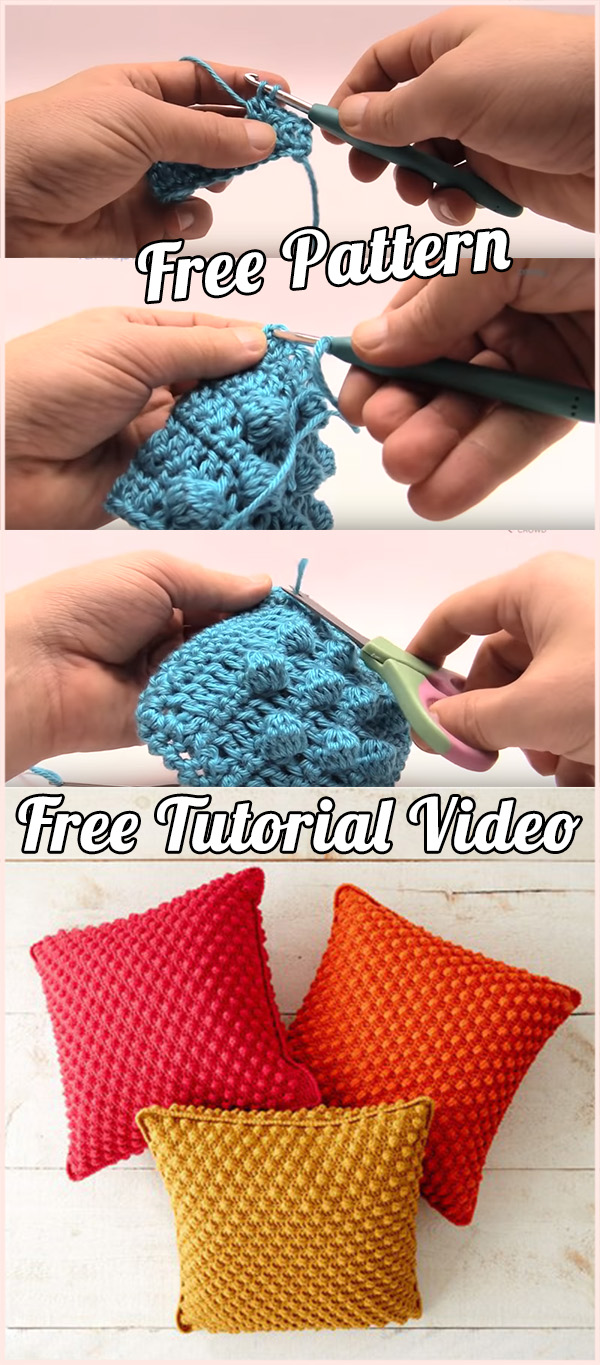 Crochet Cushion and Pillow: free pat