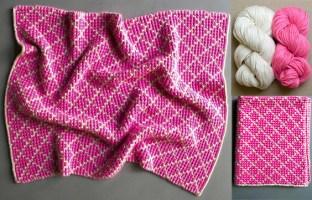 4 Colors Mosaic Baby Blanket | DIY Free Patern and Tutorial Video