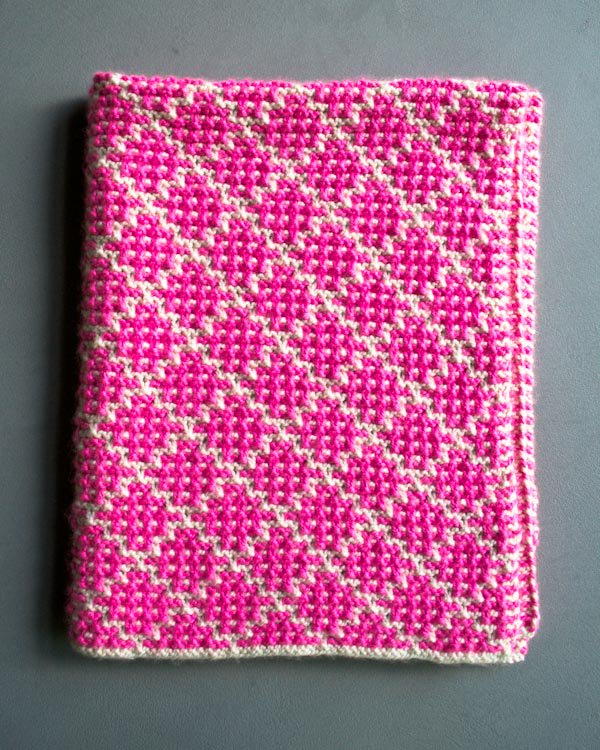 4 Colors Mosaic Baby Blanket   DIY Free Patern and Tutorial Video